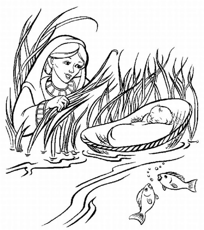 Week 7 bible story baby moses coloring page bible school pinterest baby moses bible stories and bible