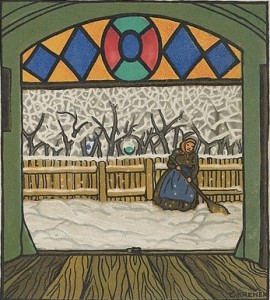 Carl Krenek (Austrian, 1880–1948) Christmas Card, 1912 Austrian,  Color lithograph; Sheet: 5 1/2 × 3 9/16 in. (14 × 9 cm) The Metropolitan Museum of Art, New York, Museum Accession, transferred from the Library (WW.762) http://www.metmuseum.org/Collections/search-the-collections/650416